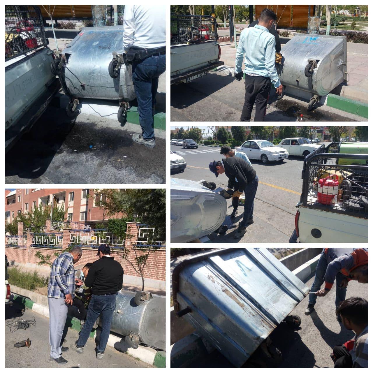 تعمیر و بازسازی مستمر باکس های زباله در شهر پرند