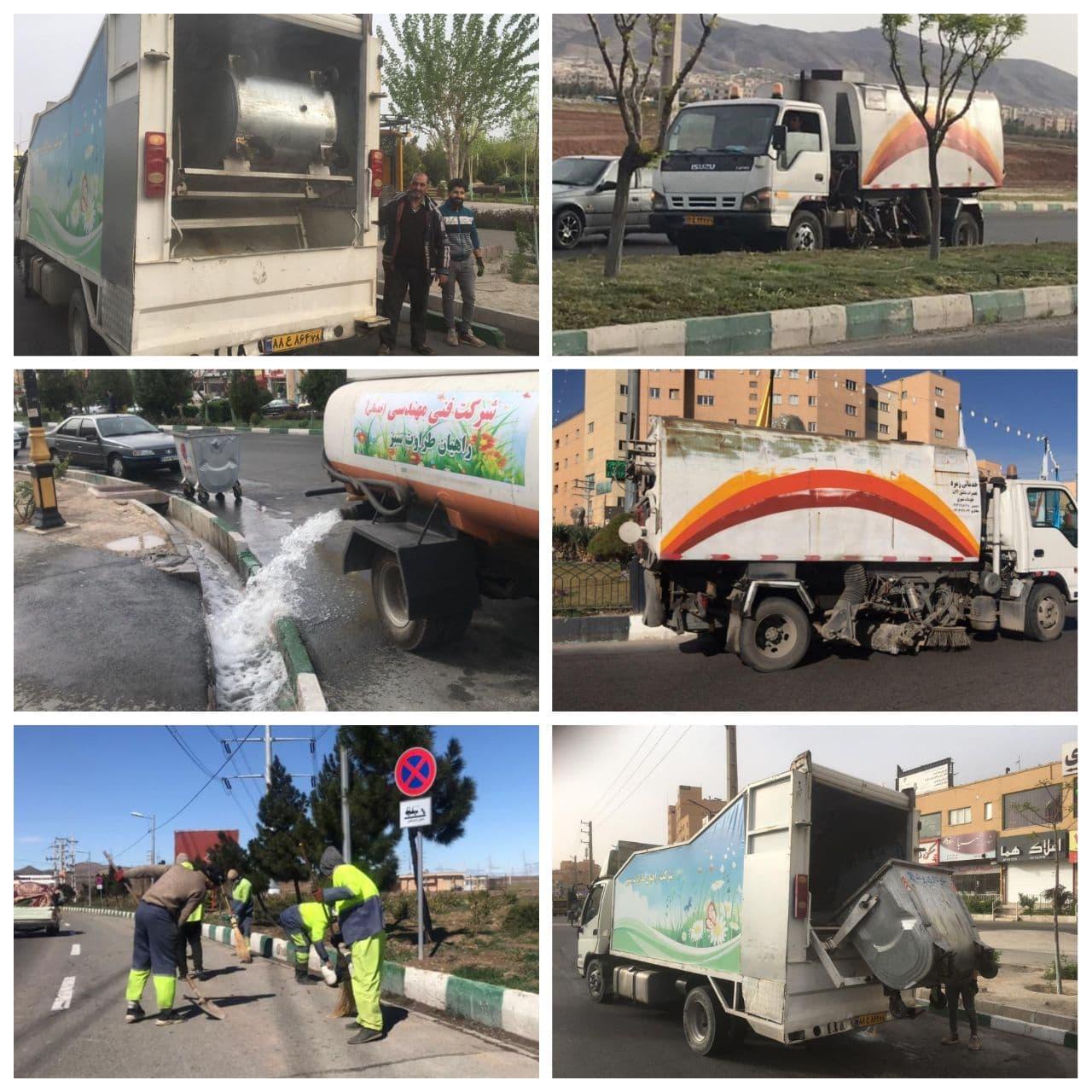 طرح جهادی نظافت و پاکسازی شهر پرندآراستگی و بهداشت محیط شهری از اولویت های مهم شهرداری پرند