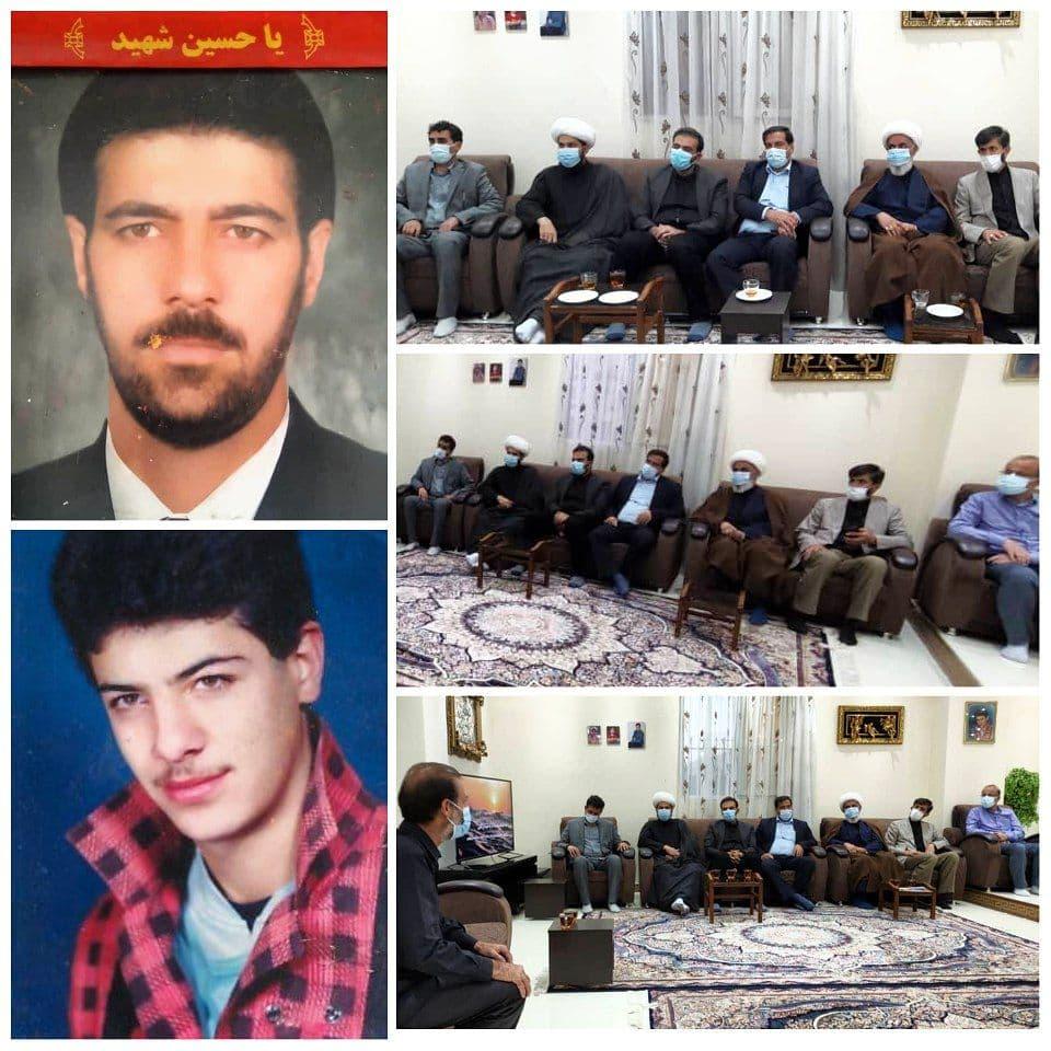 دیدار مسئولان شهر پرند با خانواده شهیدان شهابی