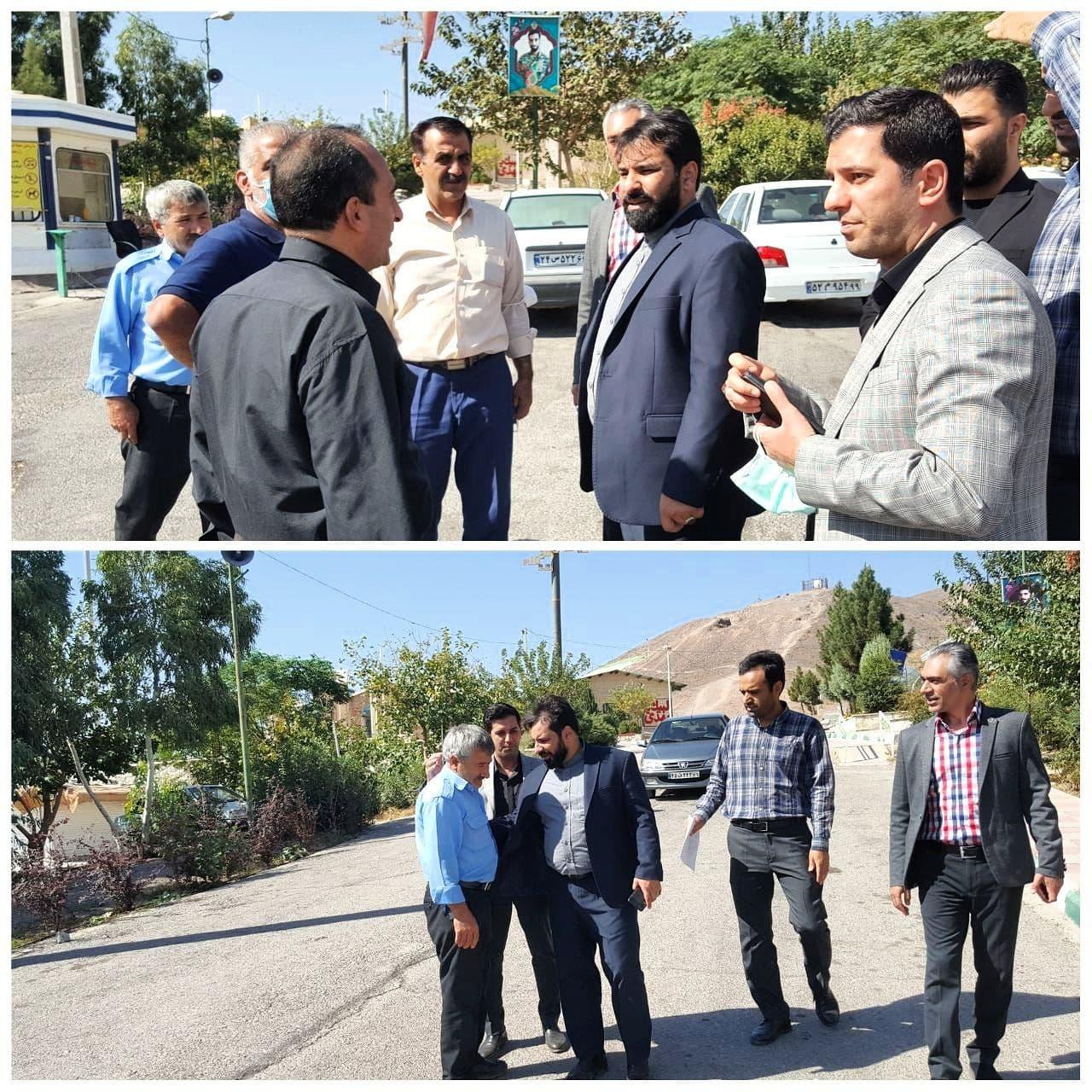 تاکید شهردار پرند بر خدمات رسانی مطلوب به شهروندان بازدید دکتر اله یاری از سطح شهر و پارک کوهسار