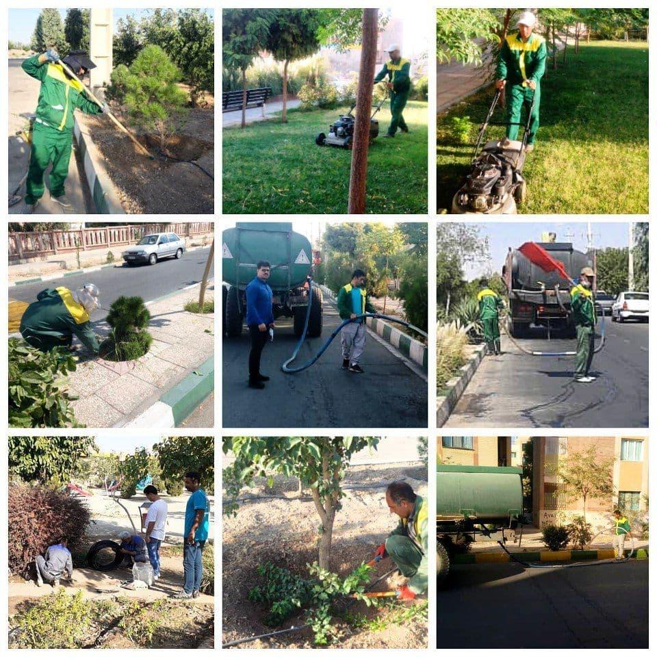نگاه ویژه مدیریت شهری پرند به عرصه های فضای سبز