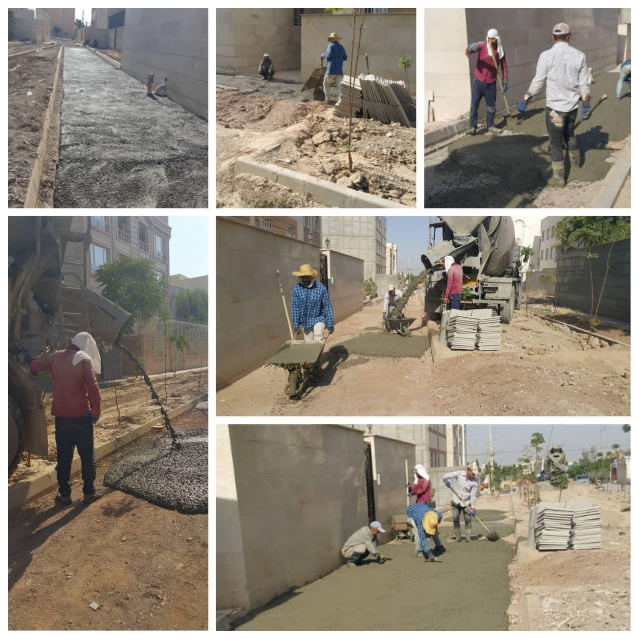 اجرای عملیات بهسازی و کفپوش معابر شهر پرند دورِ جدید بهسازی معابر در دست اجرا
