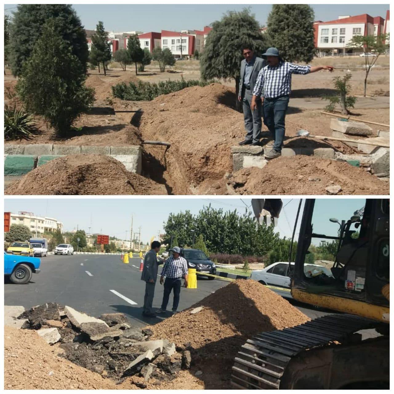 بازدید سرپرست شهرداری پرند از روند احداث خط انتقال پساب