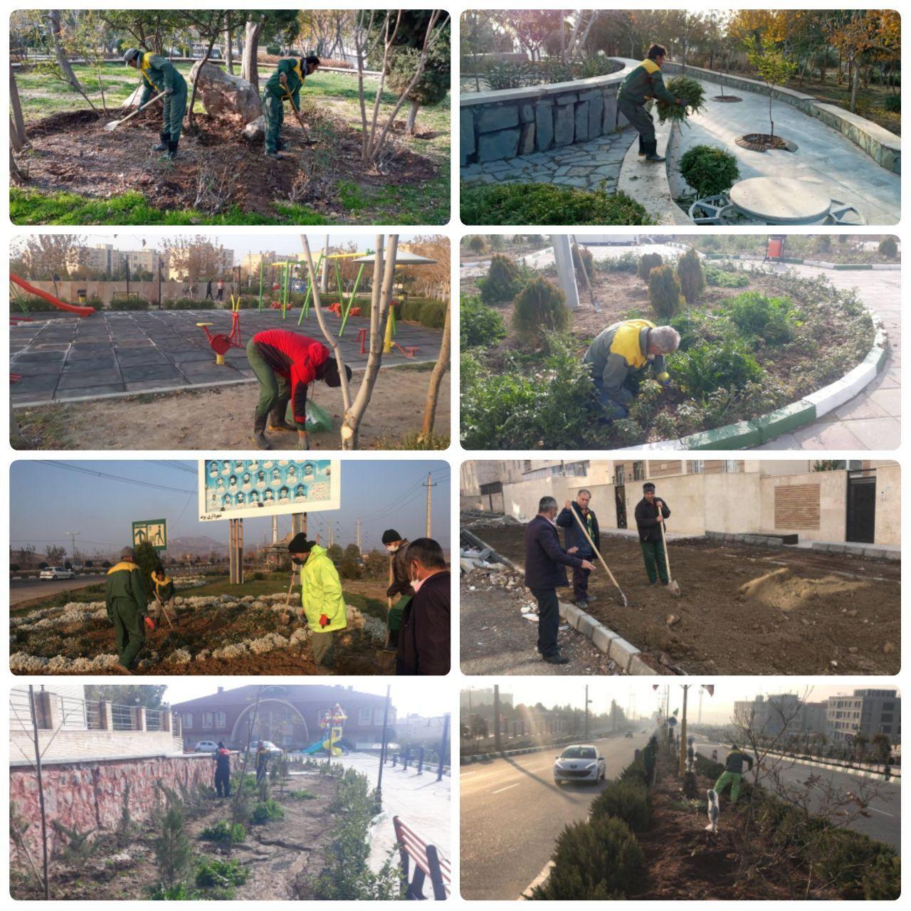 رشد و توسعه عرصه های فضای سبز شهر پرند همچنان ادامه دارد