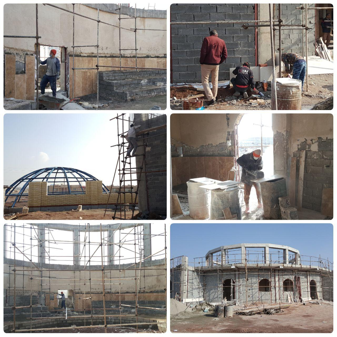 اجرای همزمان چندین پروژه های عمرانی در پرند/ پیشرفت مطلوب پروژه زورخانه