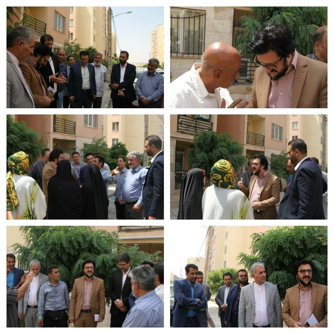 بازدید شهردار پرند و چند تن از اعضای شورای شهر از شهرک اینتا پارس فاز 6 پرند