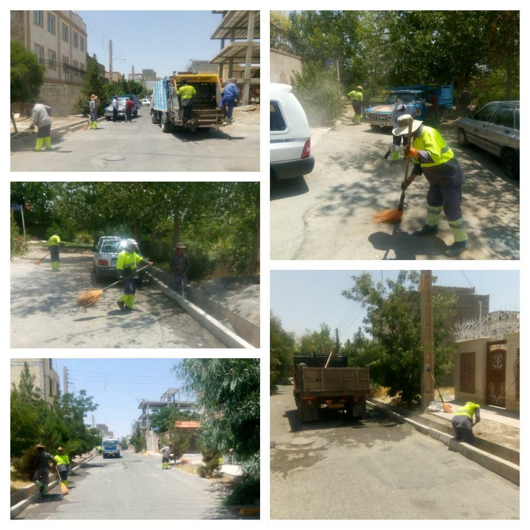 تداوم اجرای طرح جهادی پاکسازی محله به محله در شهر پرند