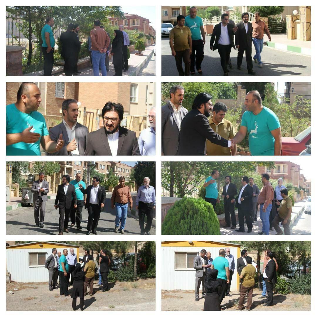 بازدید شهردار پرند از شهرک هواپیمایی فاز صفر