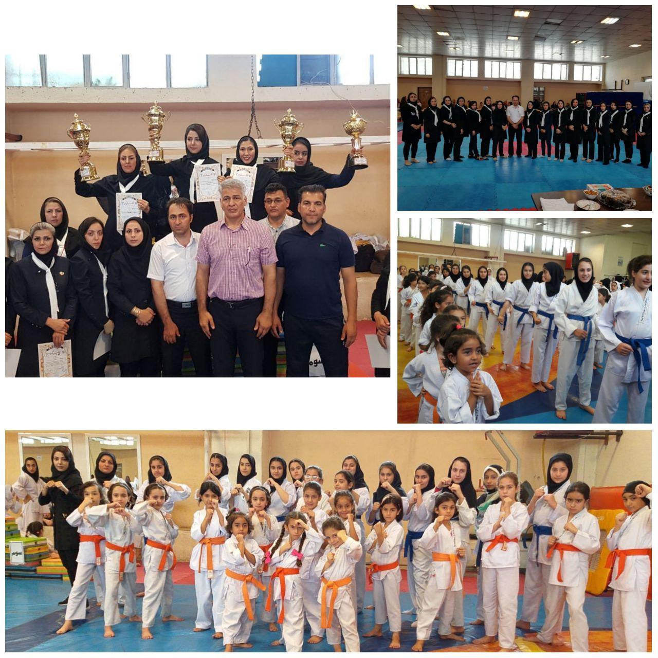 افتخاری دیگر برای ورزش پرند / کسب مقام اول مسابقات قهرمانی سبک شیدوکان کاراته ایران توسط بانوان پرندی