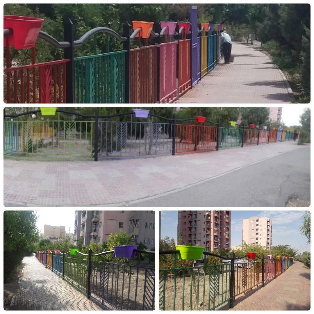 اتمام عملیات پیاده راه رنگین کمان در شهر پرند