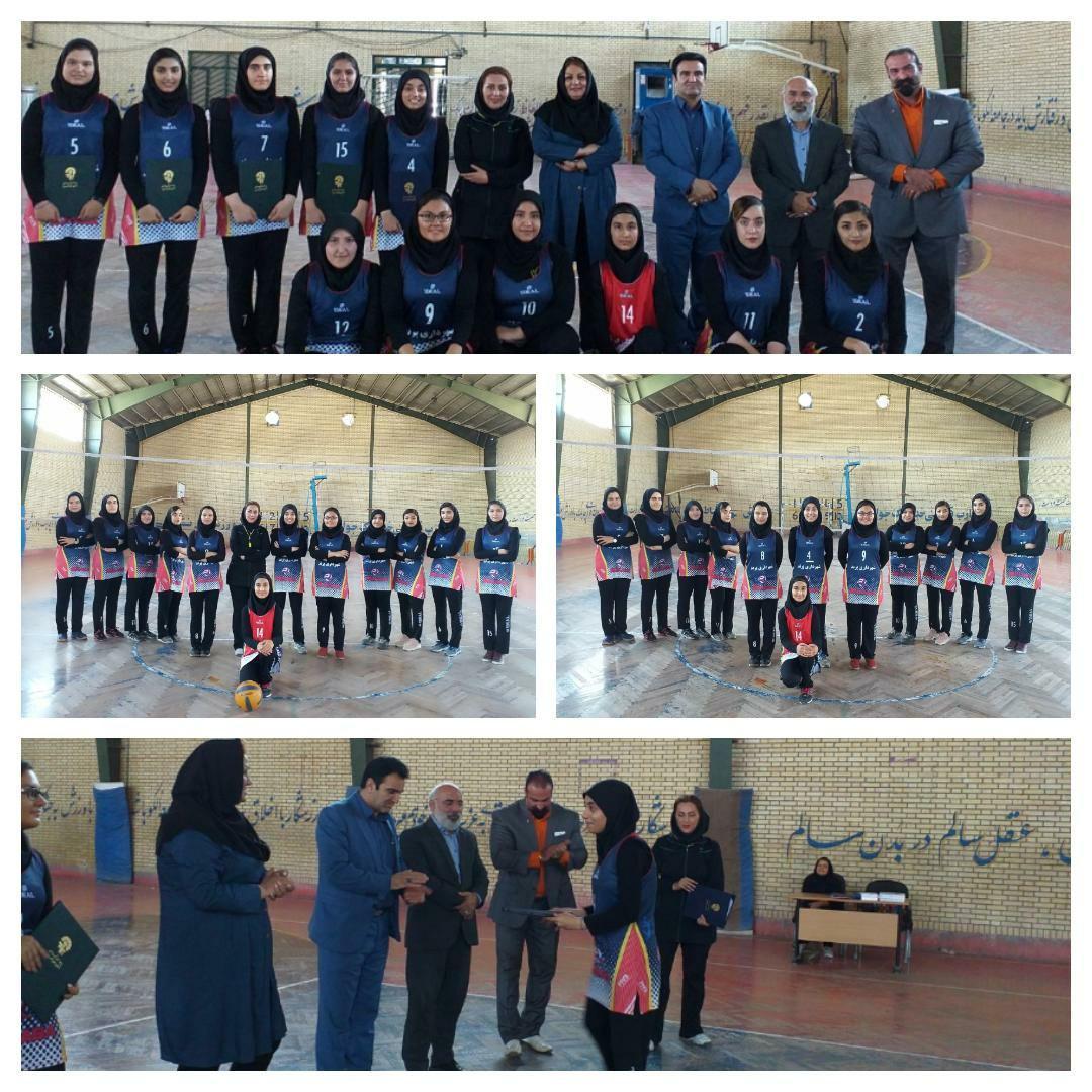 برگزاری مراسم تجلیل از تیم والیبال بانوان شهرداری پرند پس از کسب مقام سوم مسابقات قهرمانی غرب استان تهران