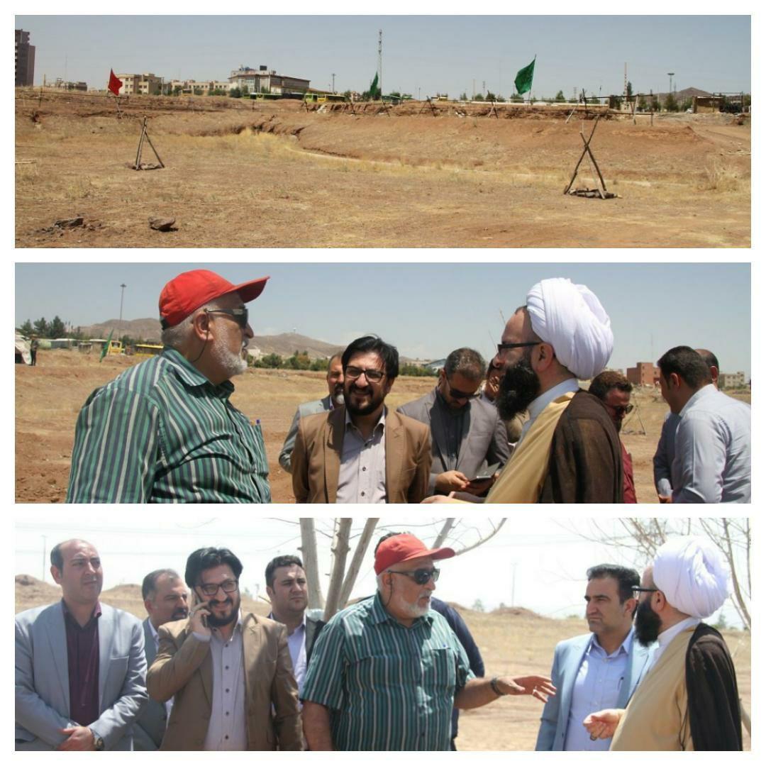 بازدید مسئولین شهری از محل بازسازی واقعه غدیر در شهر پرند