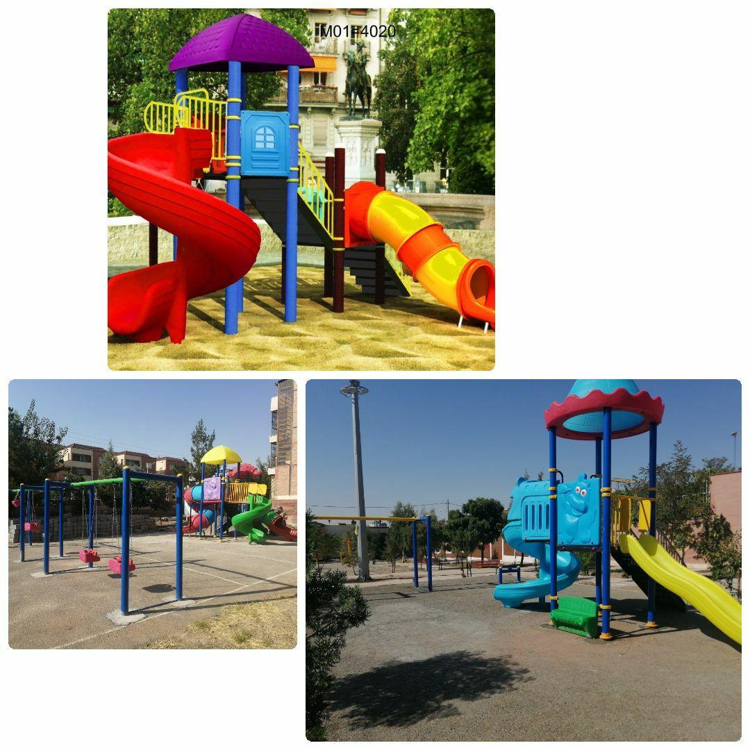 طرح نصب وسایل بازی کودکان در بوستان های محله ای شهر پرند در دستور کار دفتر زیباسازی شهرداری پرند