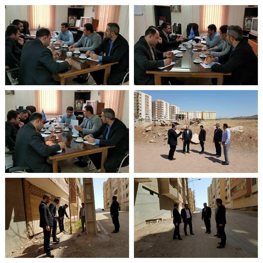 بازدید میدانی معاونین و مدیران شهرداری پرند از وضعیت فازهای تحویلی