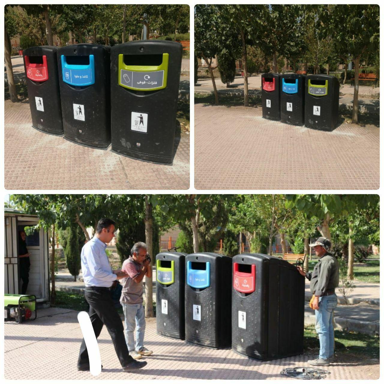 اجرای طرح نصب باکس های آموزش تفکیک زباله از مبداء در میادین و معابر اصلی شهر پرند