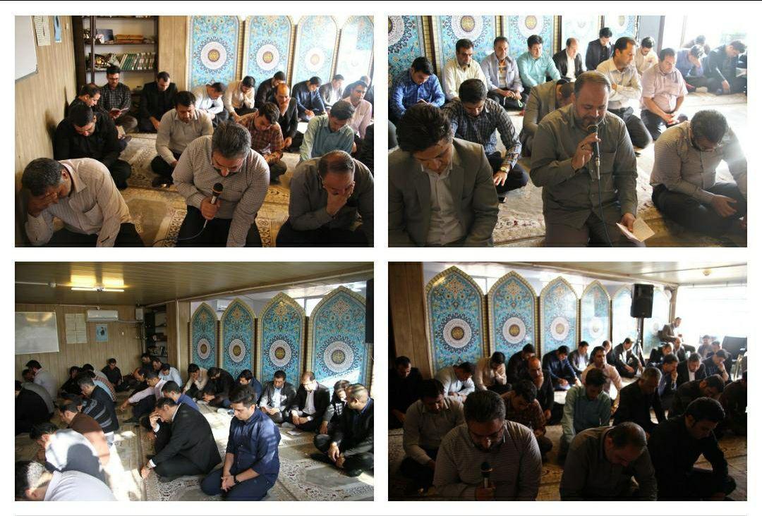 برگزاری مراسم قرائت زیارت عاشورا در دهه اول ماه محرم در نمازخانه شهرداری پرند