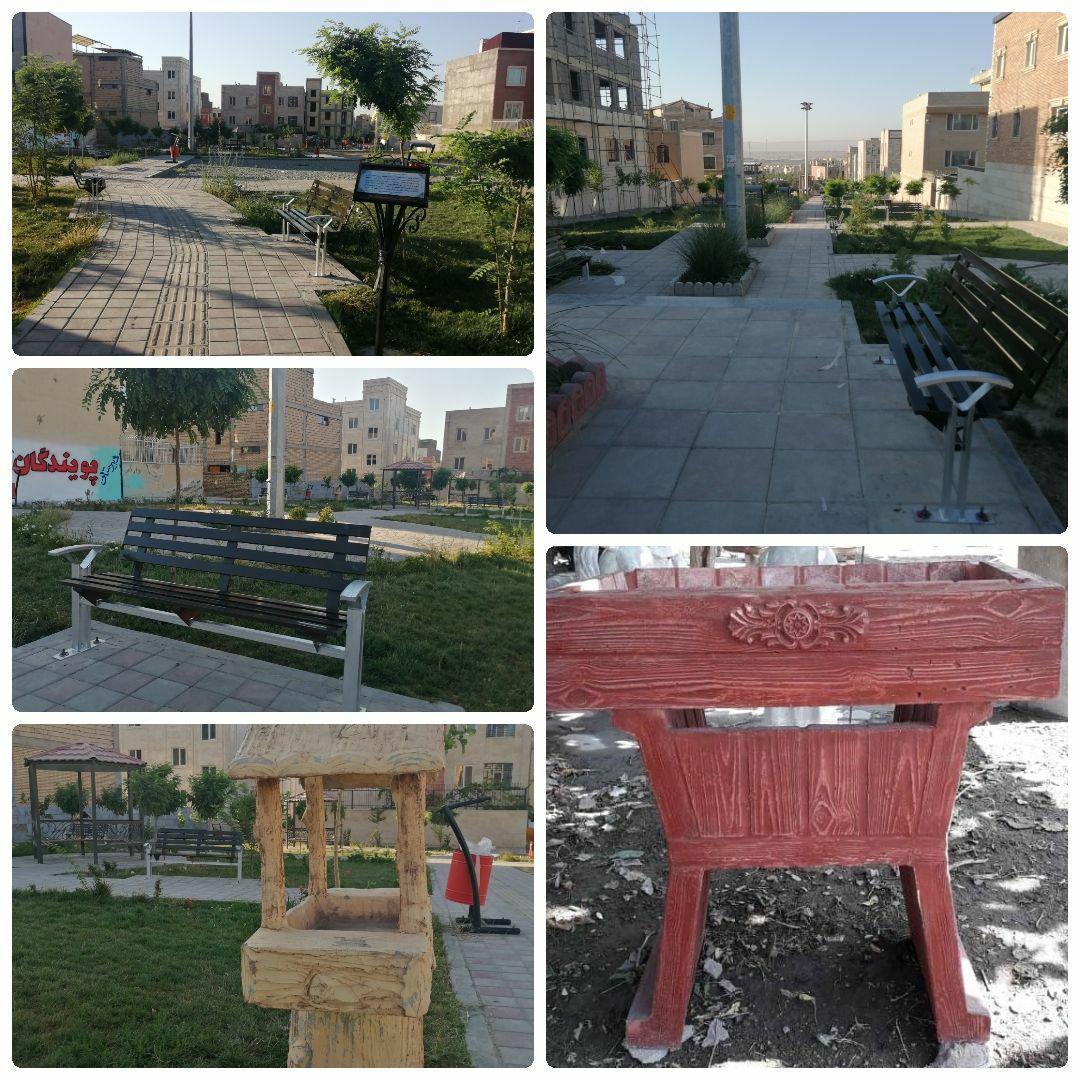 آغاز عملیات تجهیز بوستان ها و فضاهای شهری به مبلمان شهری استاندارد