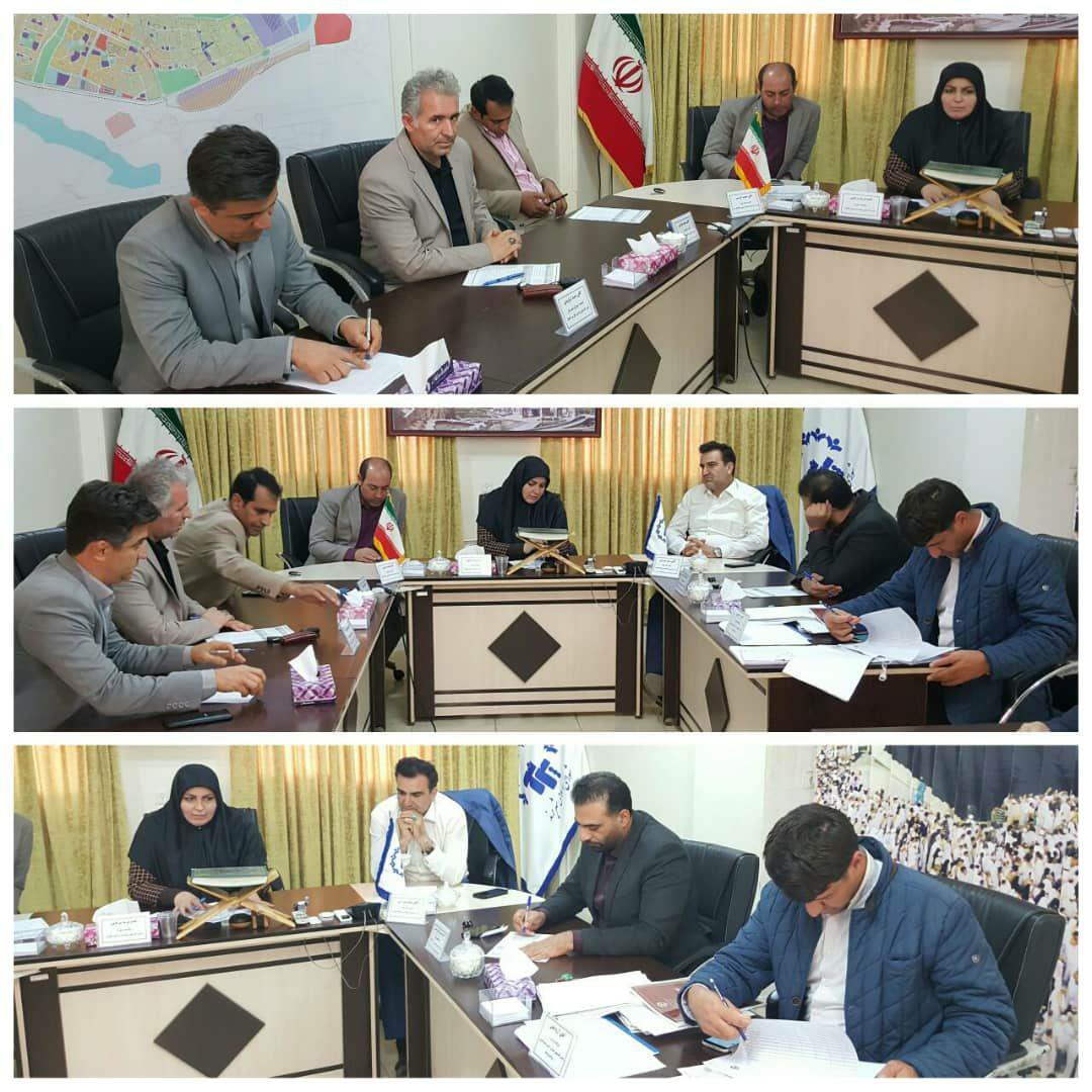 ارائه گزارش عملکرد سرپرست شهرداری پرند در جلسه شورای اسلامی شهر