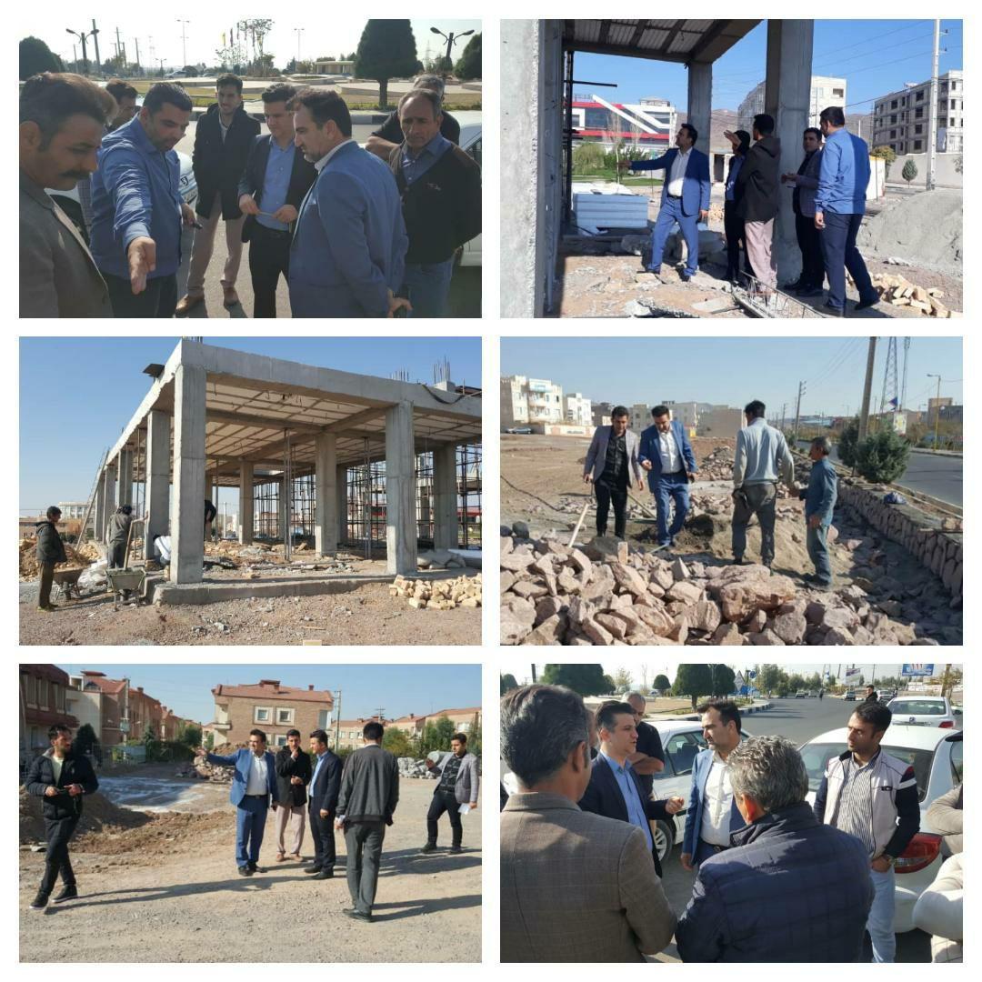بازدید سرپرست شهرداری پرند به همراه رئیس کمیسیون اقتصاد و سرمایه گذاری شورای شهر از پروژه های عمرانی