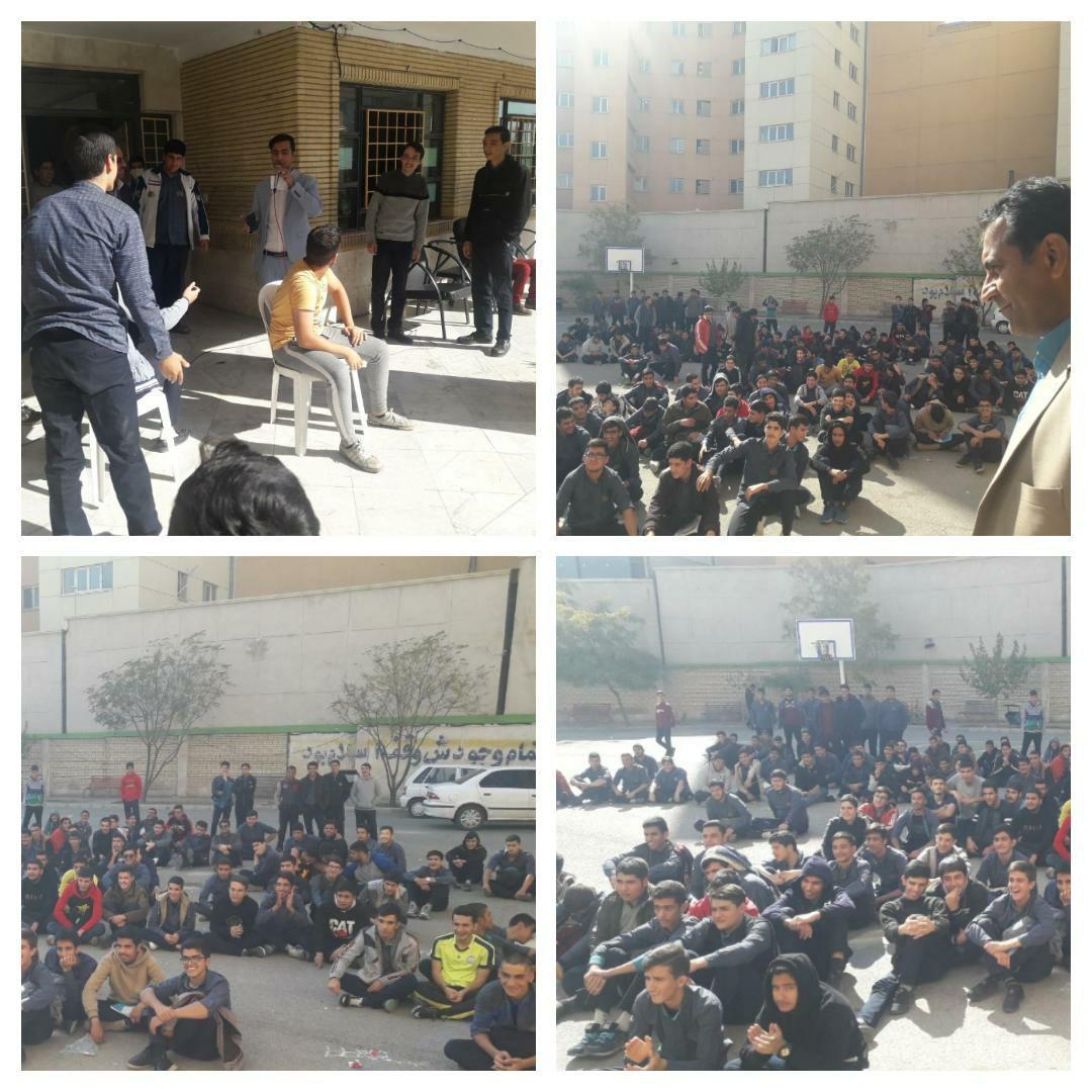 برگزاری جشن میلاد رسول اکرم (ص) و امام صادق (ع) در دبیرستان نبی اکرم شهر پرند