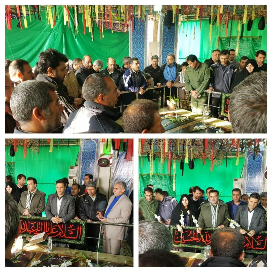 تجدید میثاق مسئولین شهر پرند با شهدای گمنام در سومین روز از هفته بسیج