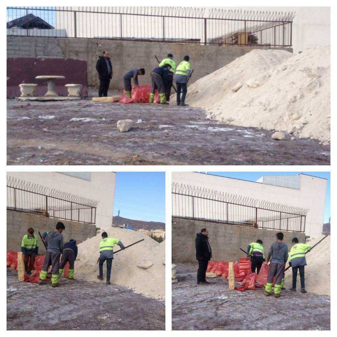آماده سازی ستاد مدیریت بحران شهرداری پرند برای بارندگی های پیش رو و جانمایی ایستگاه های شن و نمک در نقاط مختلف شهر