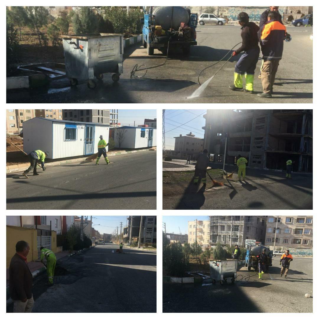 اجرای طرح جهادی پاکسازی محله به محله در فاز صفر پرند
