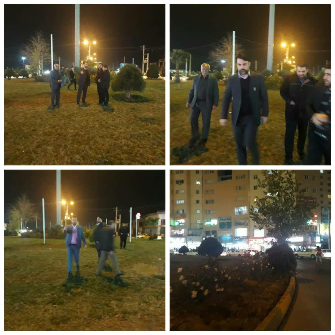 بازدید شبانه شهردار پرند از سطح شهر/ طرح اصلاح هندسی میدان استقلال در دستور کار شهرداری قرار گرفت
