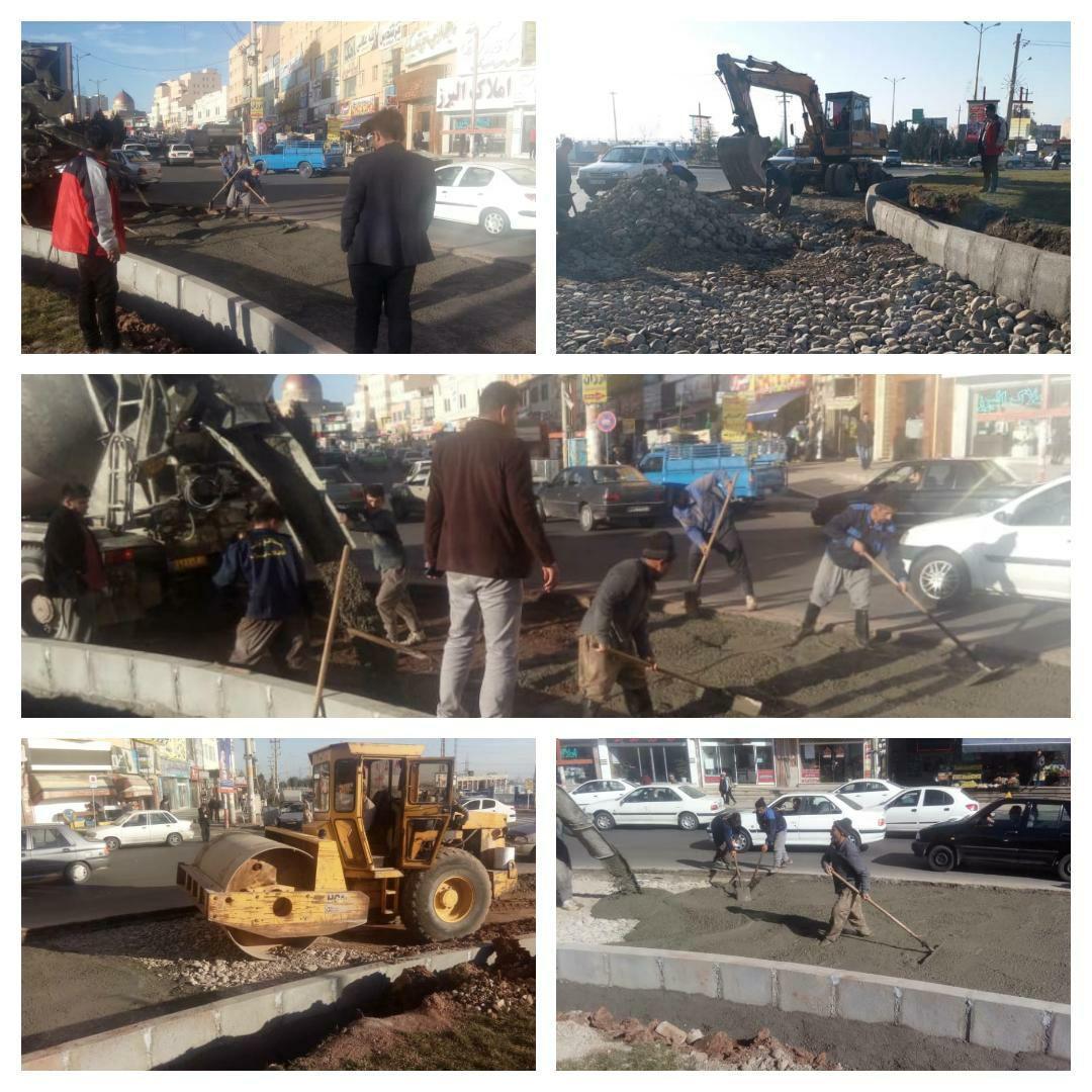 اجرای عملیات زیرسازی و آماده سازی جهت آسفالتِ پروژه اصلاح هندسی میدان استقلال شهر پرند