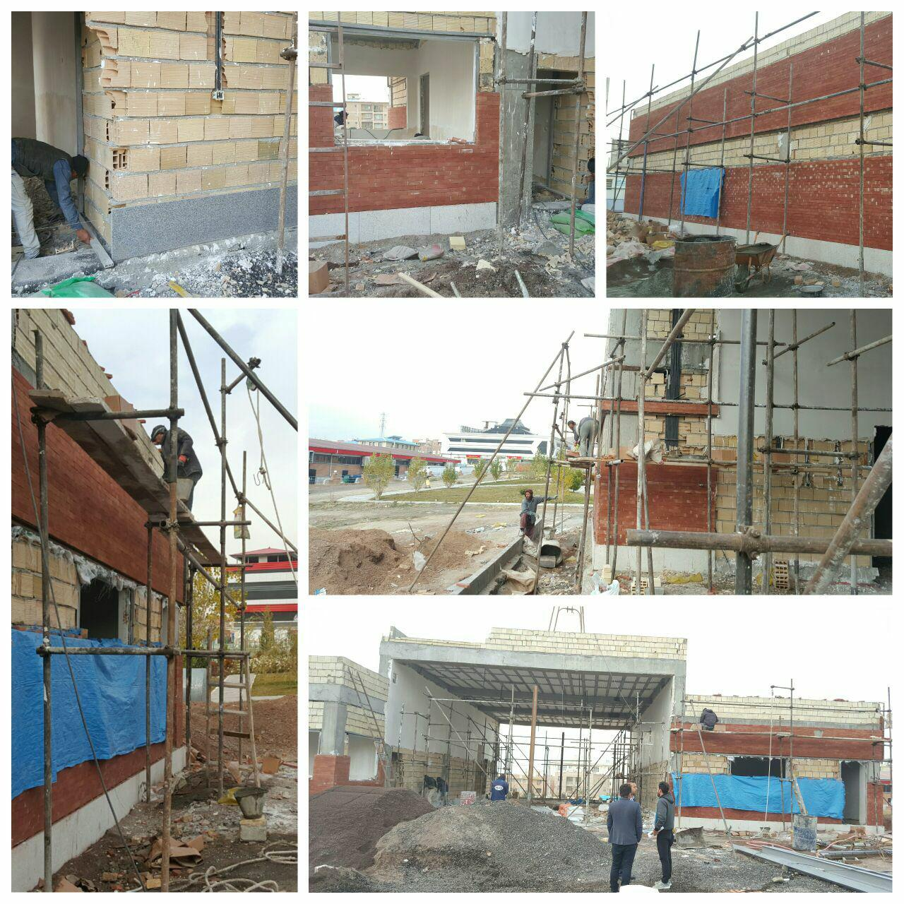 مراحل پایانی پروژه احداث ایستگاه شماره دو آتش نشانی شهر پرند