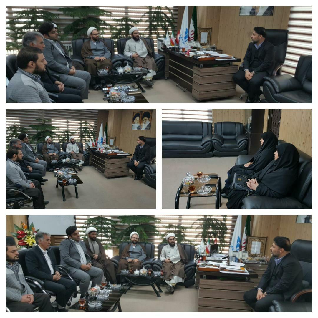 دیدار رؤسای اداره تبلیغات اسلامی شهرستان رباط کریم و پرند و رئیس هیأت های مذهبی پرند با مهندس عرب