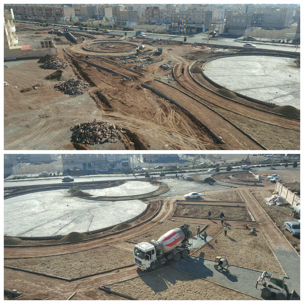 مراحل پایانی عملیات عمرانی پروژه احداث پارک کودک شهر پرند