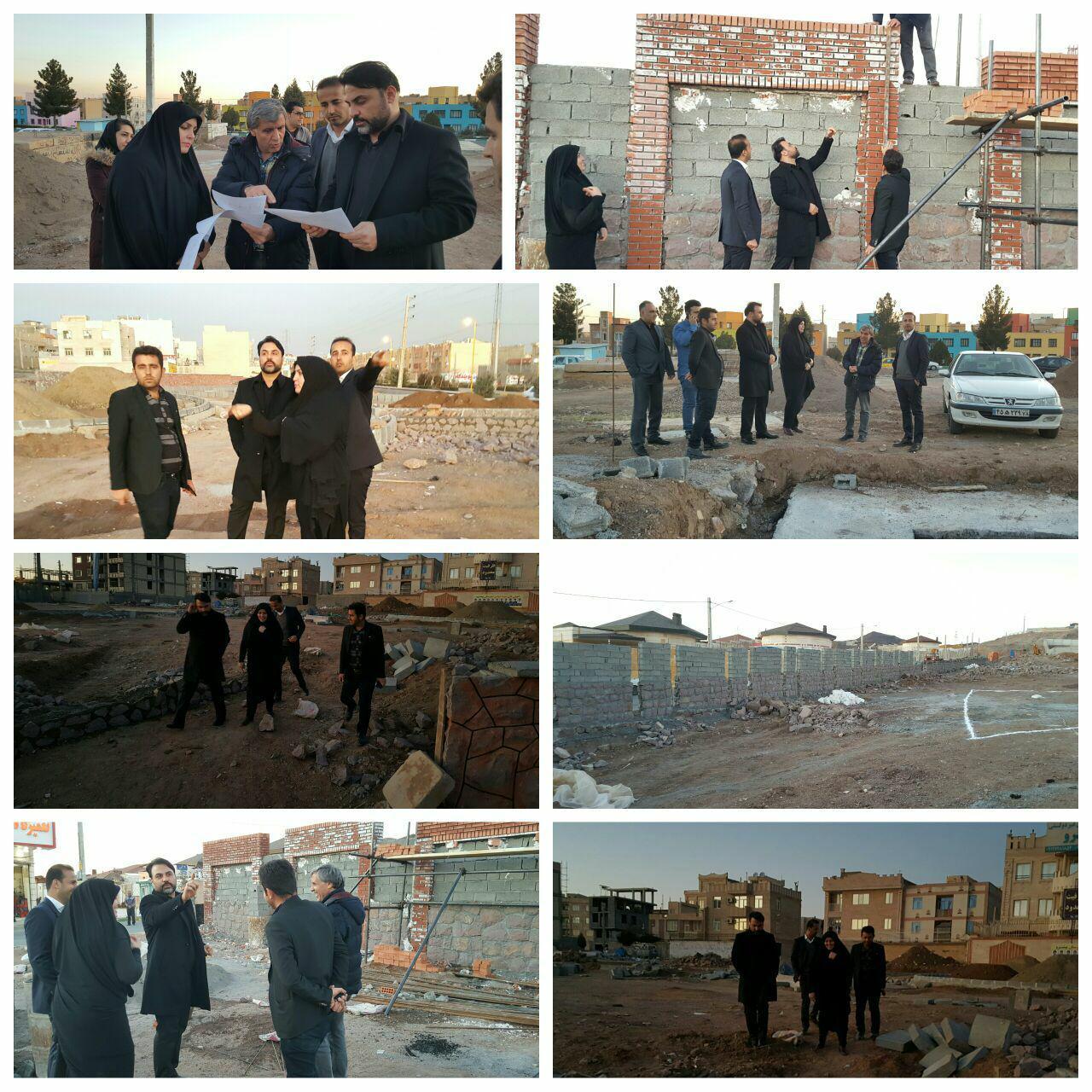 پیشرفت قابل توجه عملیات احداث بوستان بانوان/بازدید شهردار و رئیس شورای شهر پرند از پروژه های عمرانی