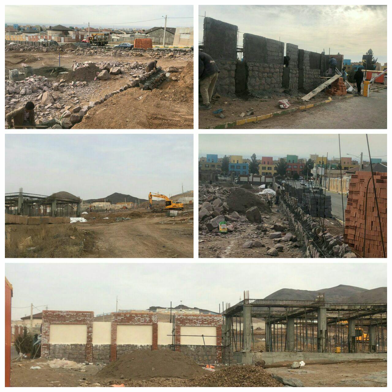 پیشرفت قابل توجه عملیات احداثی بوستان بانوان شهر پرند