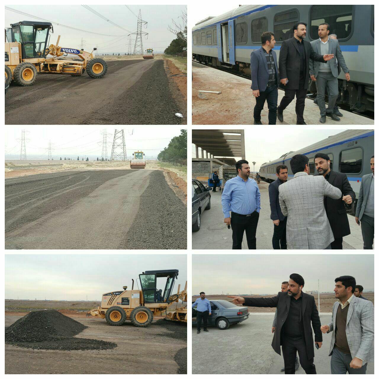 بازدید شهردار پرند از ایستگاه ریل باس/ پروژه توسعه ایستگاه ریل باس آغاز شد