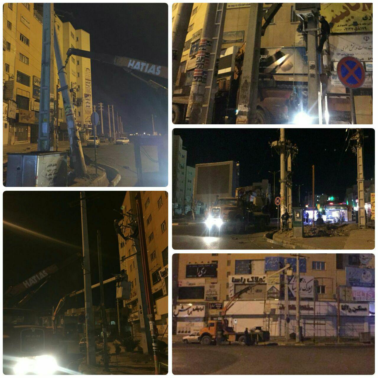 ادامه روند عملیات اصلاح هندسی میدان استقلال شهر پرند