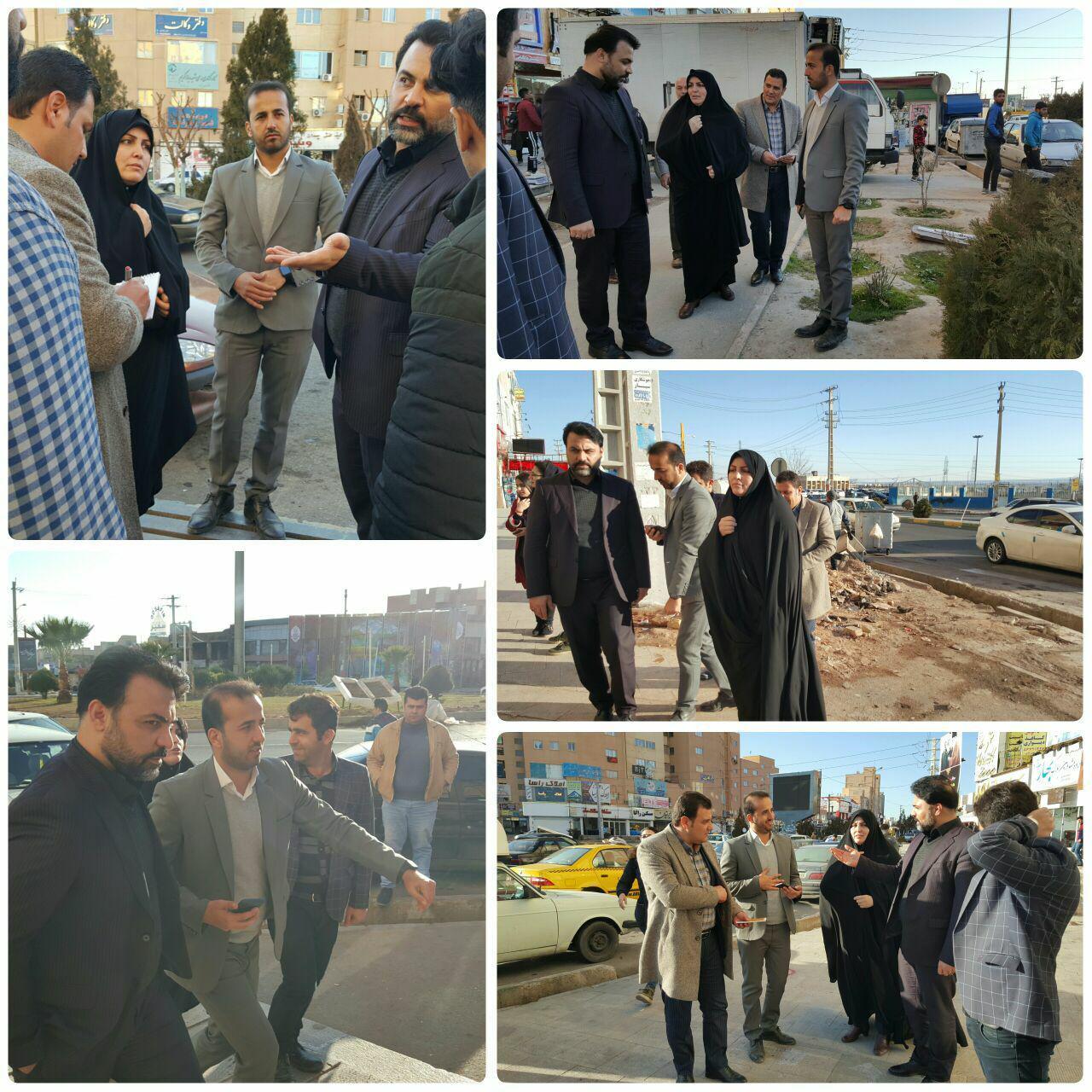 بازدید شهردار و رئیس شورای اسلامی شهر پرند از طرح اصلاح هندسی میدان استقلال