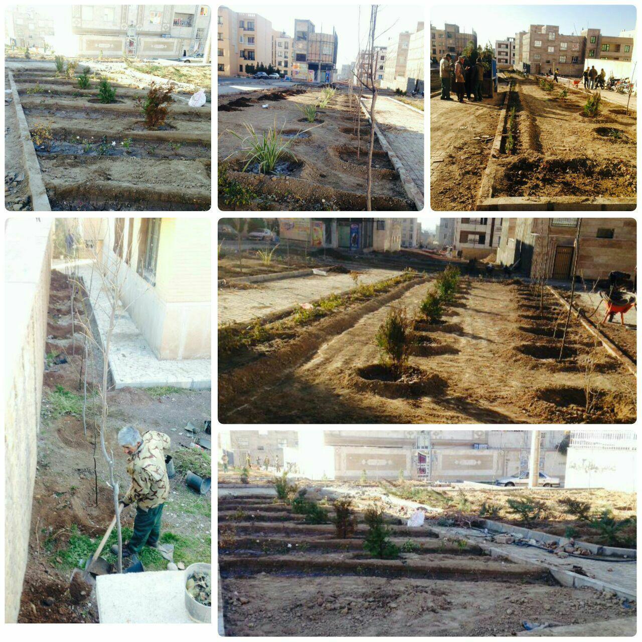 ایستگاه پایانیِ پروژه بوستان پرنیان شهر پرند