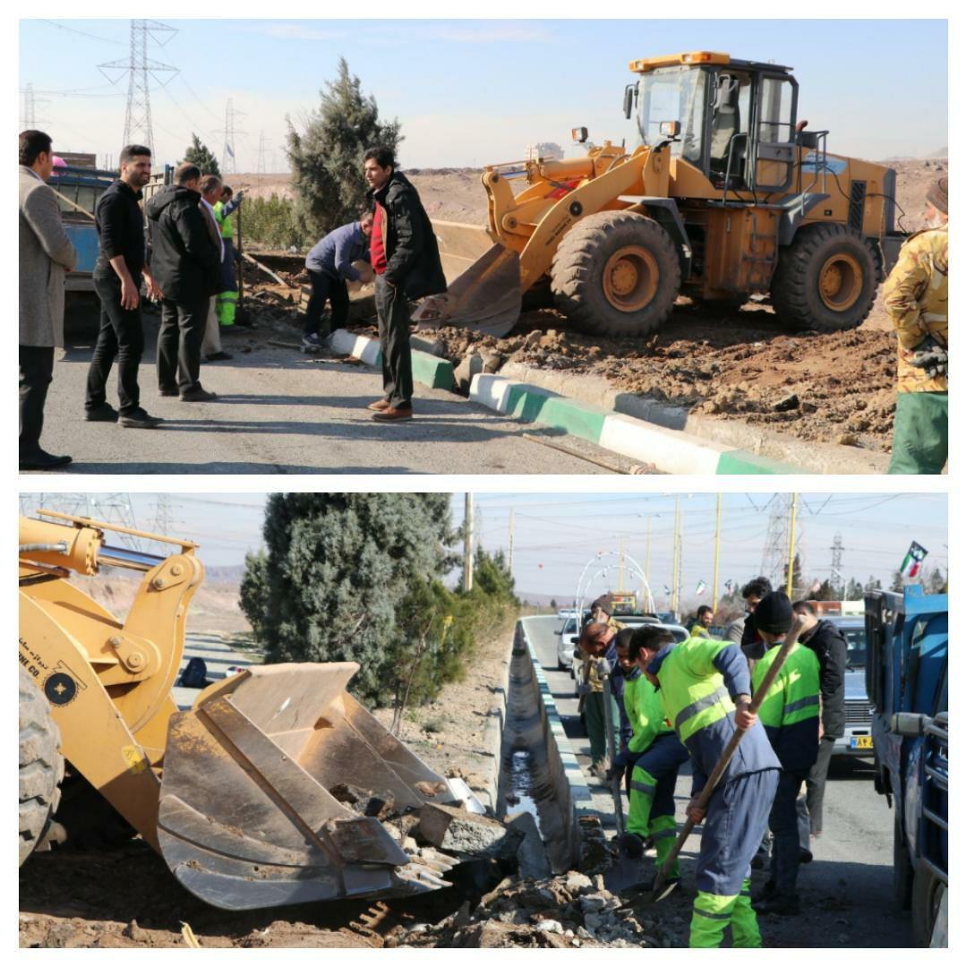 عملیات رفع سد معبر در شهر پرند اجرا شد