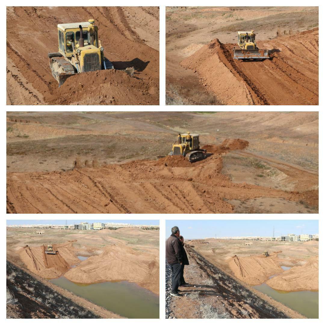 اجرای طرح تخلیه و هم سطح سازی خروجی کانال های سیلاب شهری در شهر پرند