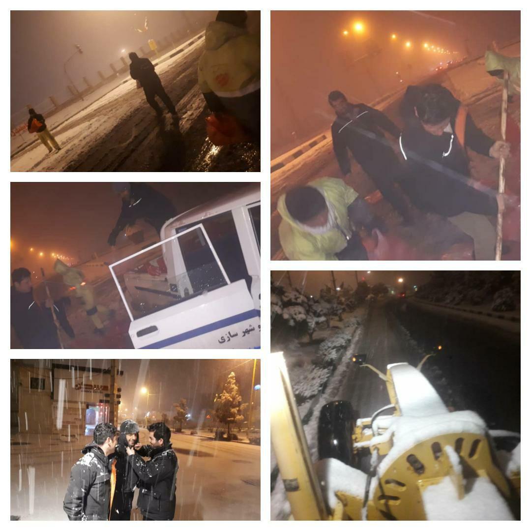 آماده باشِ ستاد برفروبی و مدیریت بحران شهرداری پرند در بازگشایی مسیرهای مسدود شده