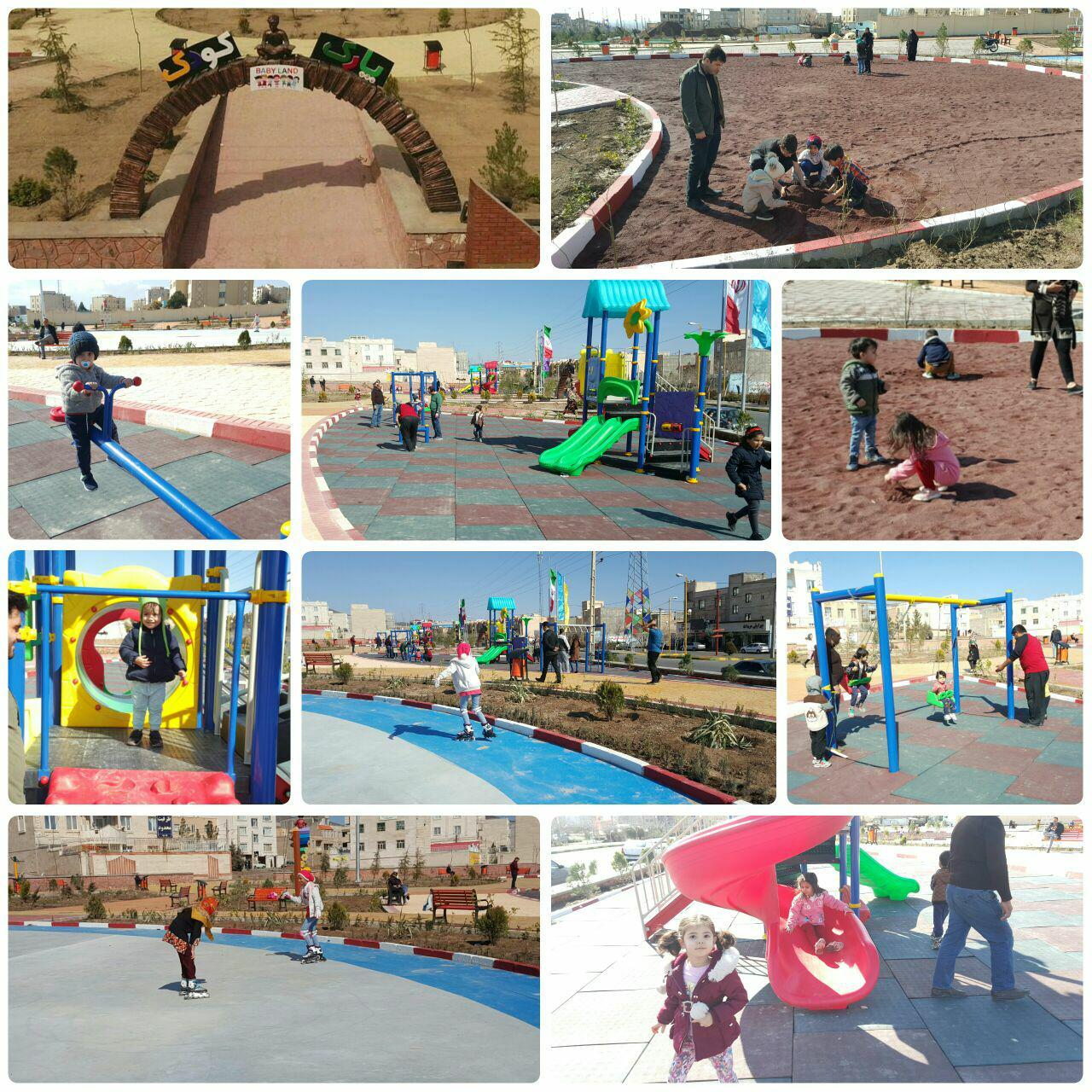 شور و شوق و بازی کودکان در نخستین پارک اختصاصی کودک شهر پرند