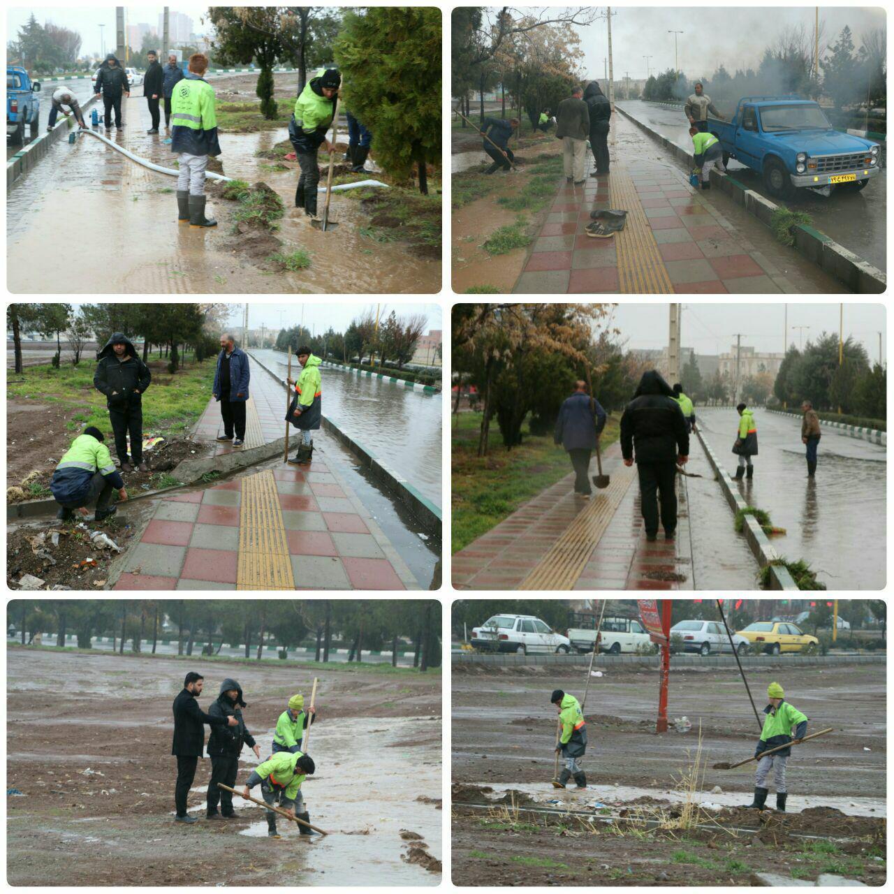 آماده باش کاملِ نیروهای ستاد مدیریت بحران شهرداری پرند در بارش های امروز