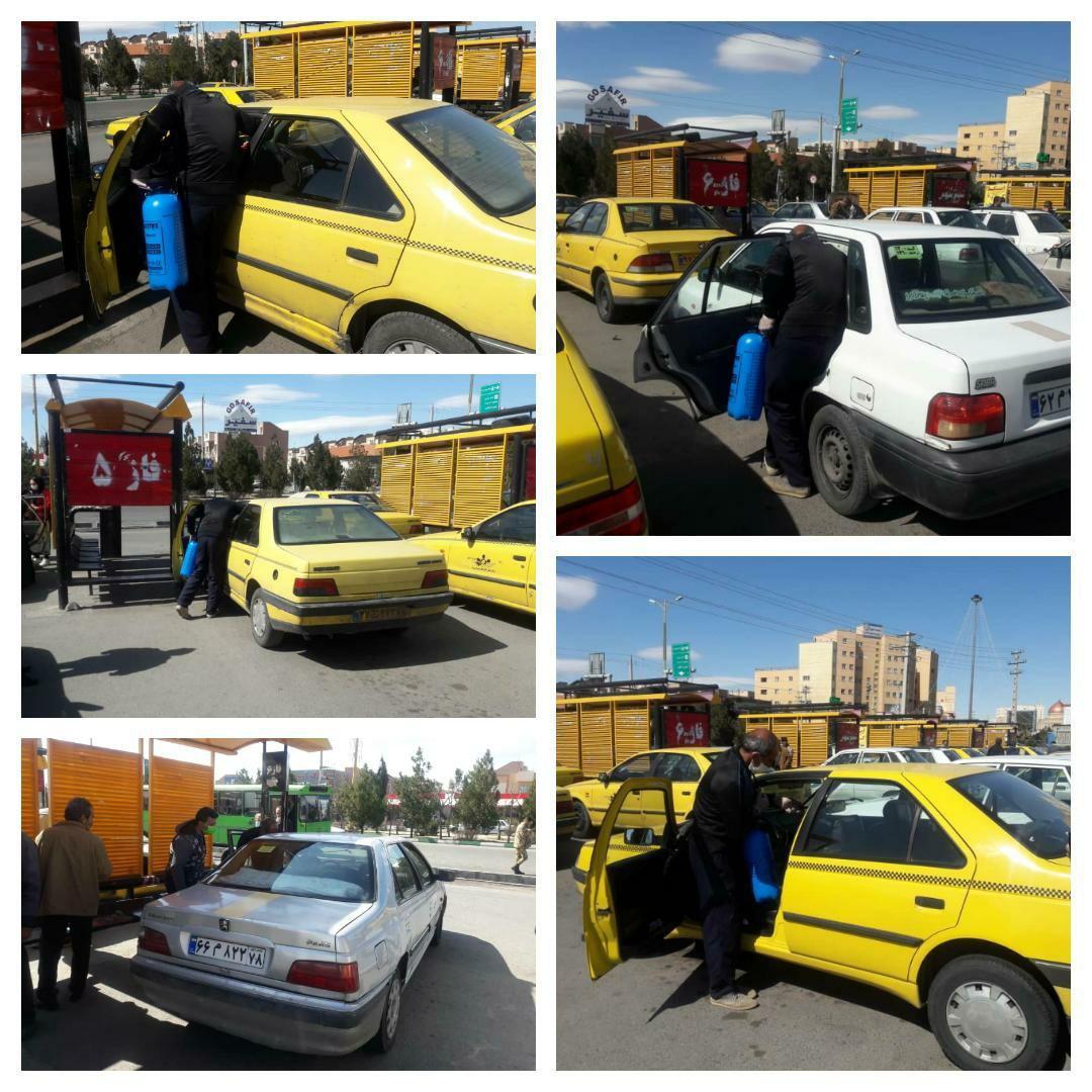 ناوگان حمل و نقل شهر پرند باز هم ضد عفونی شد