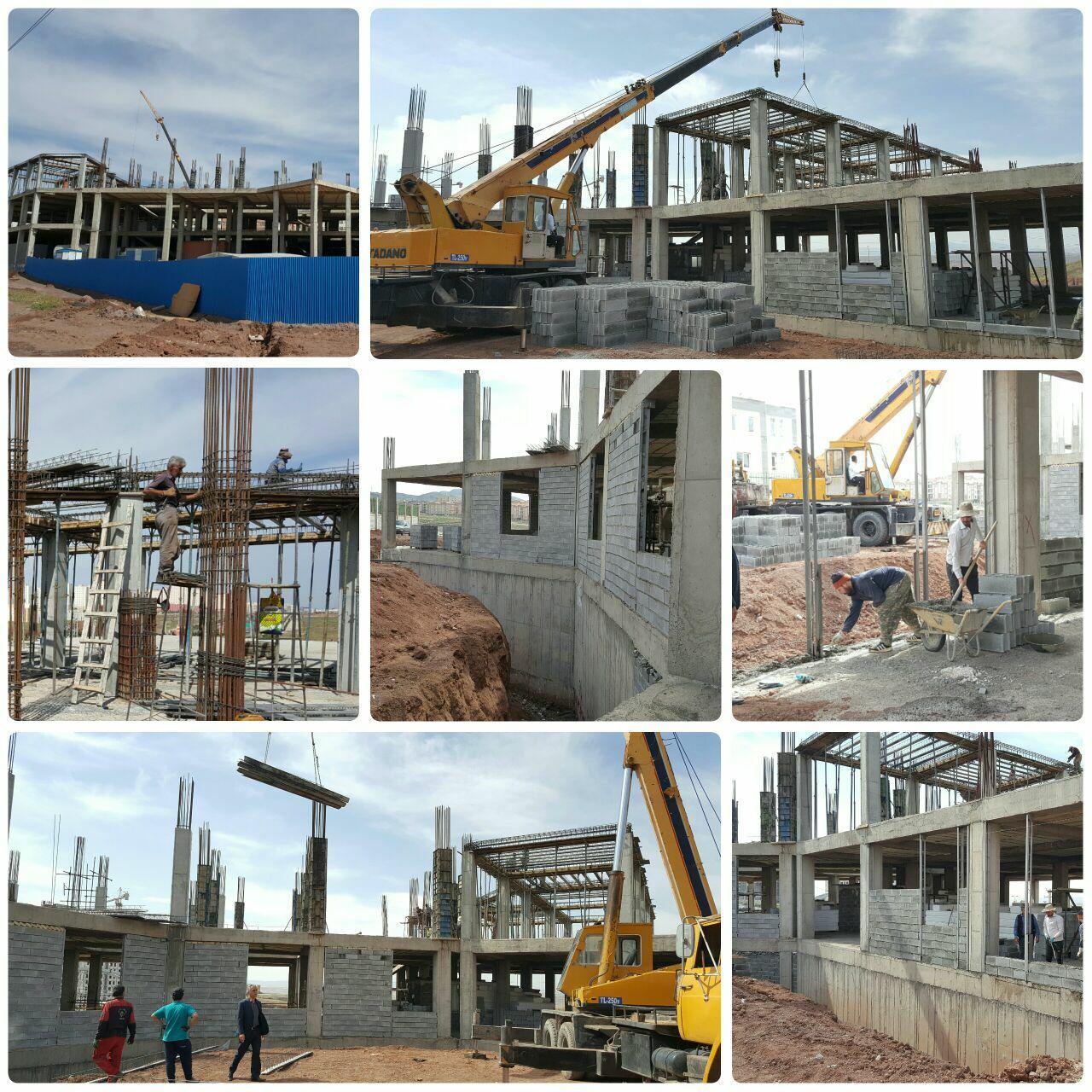 پیشرفت شتابان احداث ساختمان مرکزی شهرداری پرند