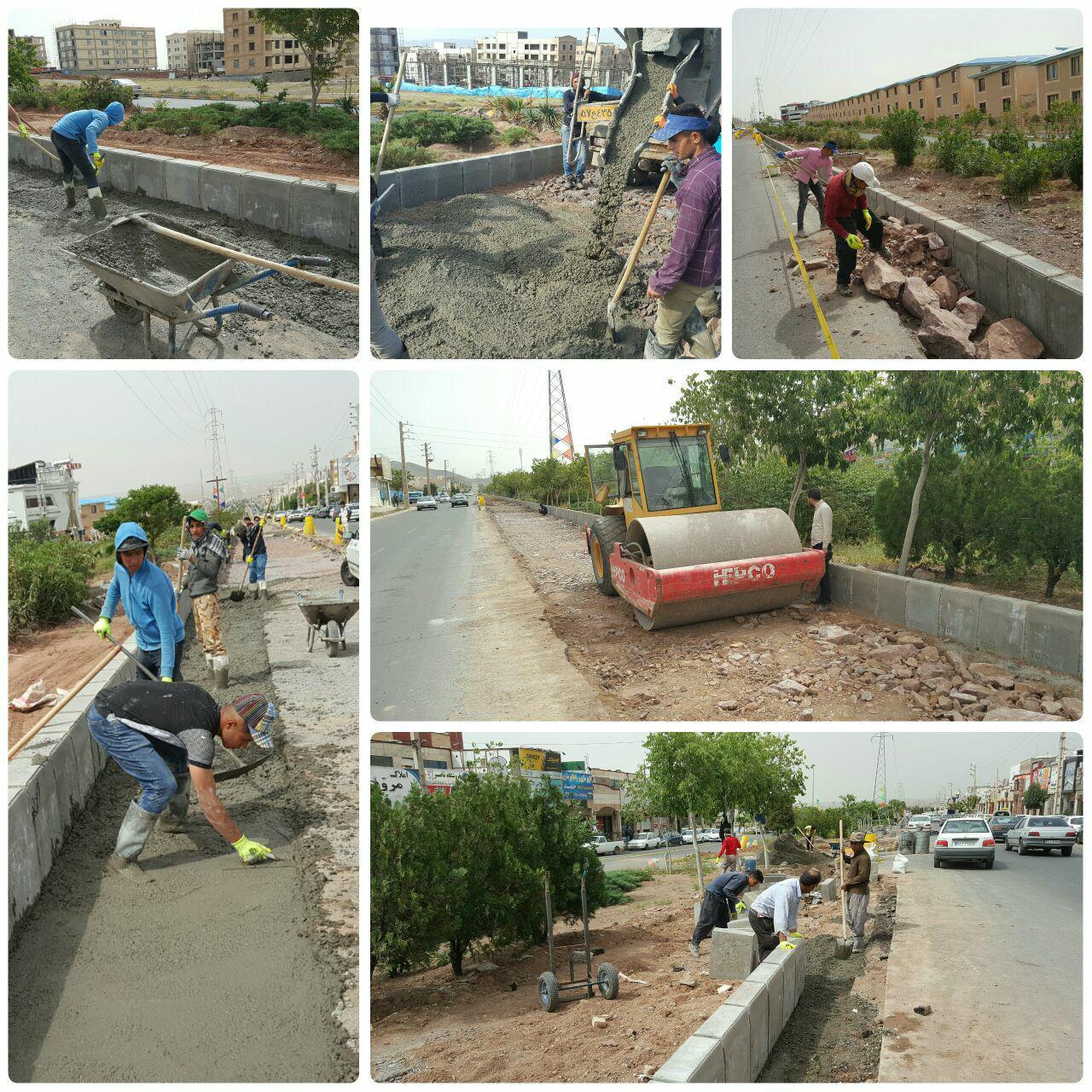 آغاز عملیات بتن ریزی و زیرسازی در پروژه اصلاح هندسی بلوار امام خمینی (ره)