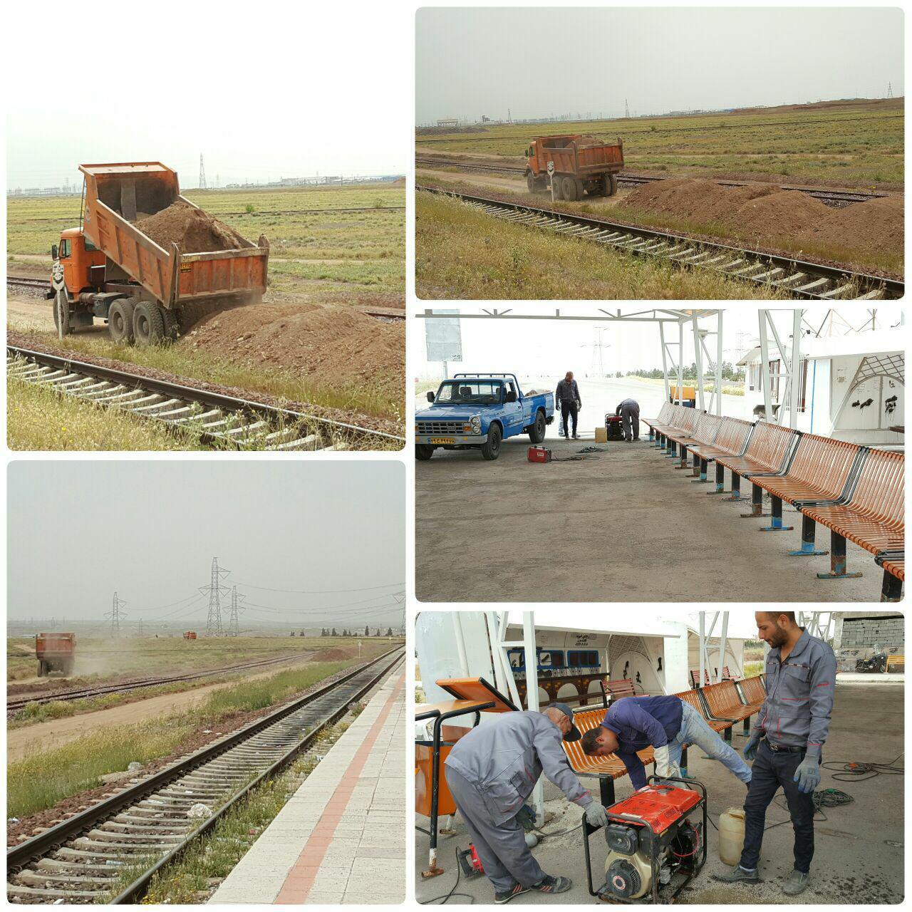 قطار عمرانی شهرداری پرند به ایستگاه ریل باس رسید / توسعه ایستگاه ریل باس در دستور کار شهرداری