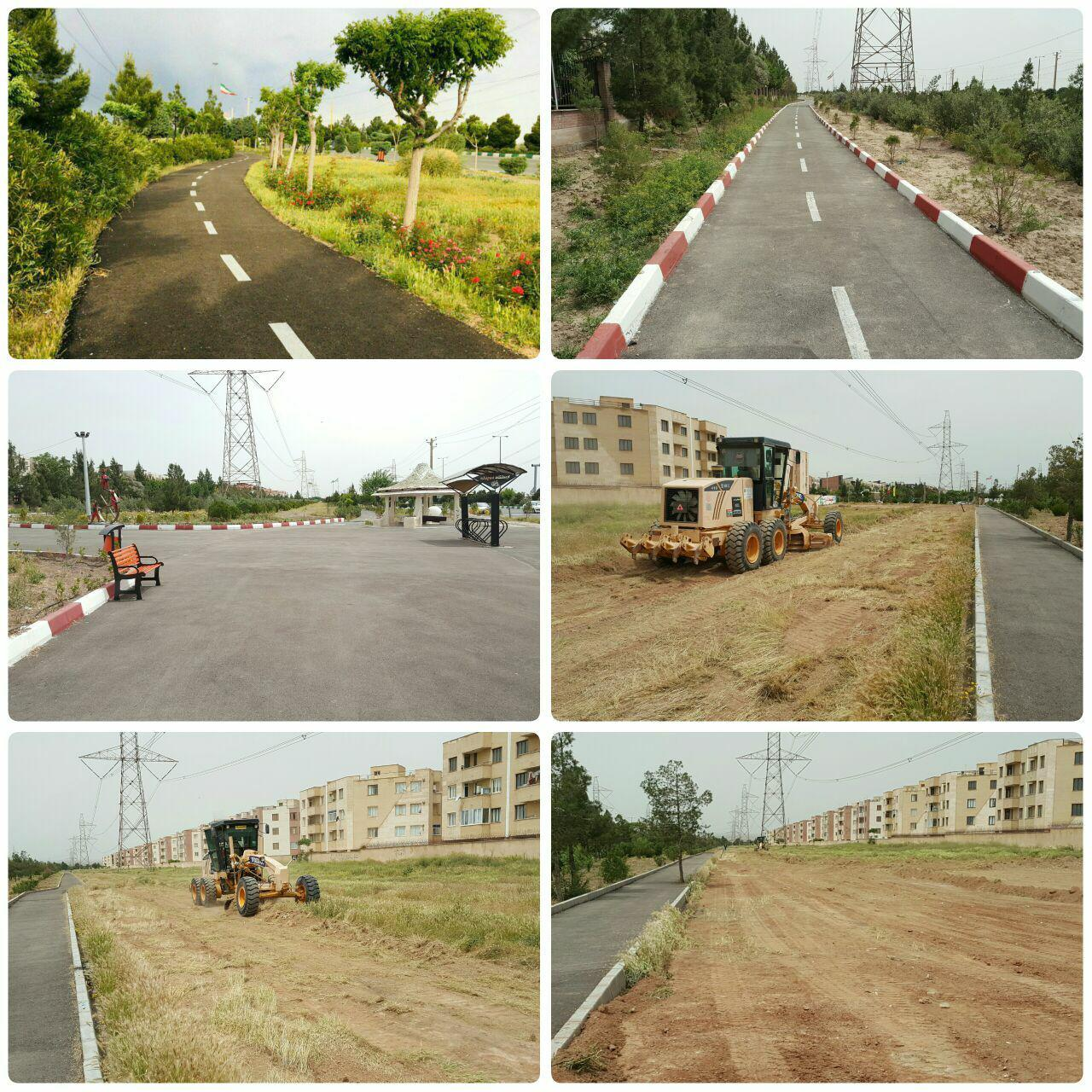 آغاز یک پروژه جدید دیگر در شهر پرند / احداث فاز دوم پیست دوچرخه سواری در پرند کلید خورد