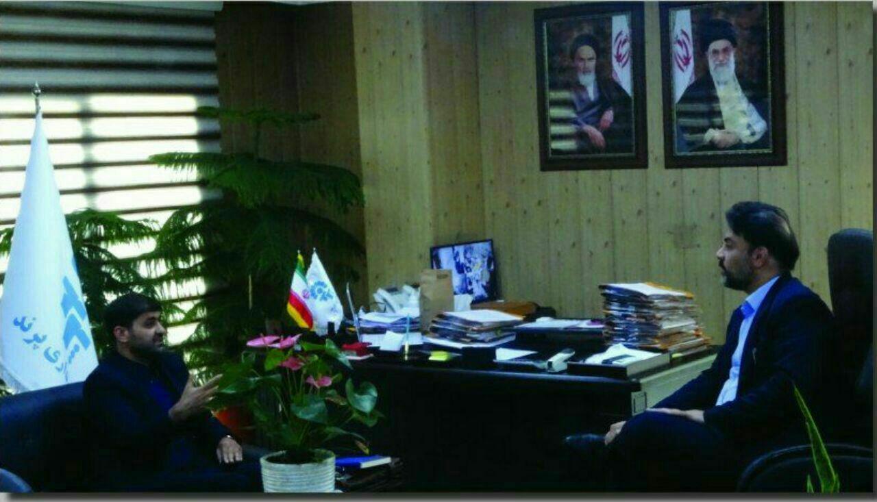 دیدار صمیمی رئیس دفتر نماینده مجلس با شهردار پرند