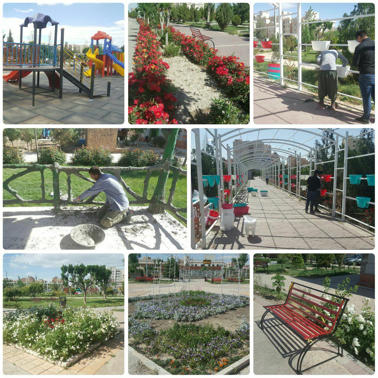 پارک فدک شهر پرند زیبا و نونوار شد